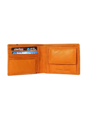 tan & brown leather wallet - 15028646 - Standard Image - 3