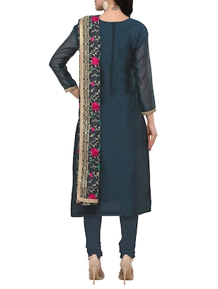 grey embroidered unstitched suit - 15029083 - Standard Image - 3