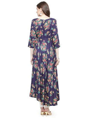 Floral high low kurta - 15029884 - Standard Image - 3