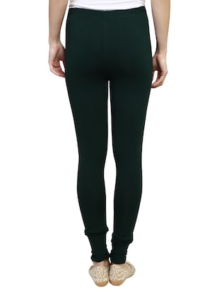 green solid leggings - 15030599 - Standard Image - 3