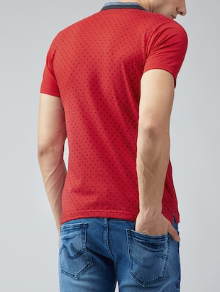 red cotton all over print t-shirt - 15030913 - Standard Image - 3