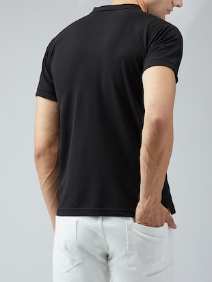 black cotton pocket t-shirt - 15030934 - Standard Image - 3