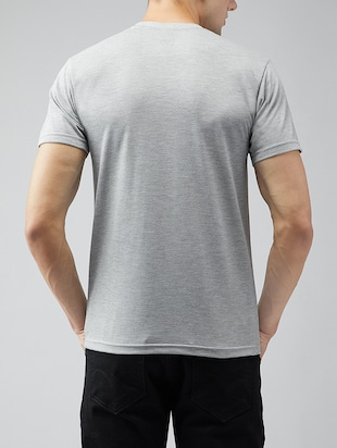 grey cotton t-shirt - 15030950 - Standard Image - 3