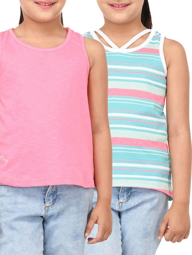 8b8dee47fb476 Buy Sleeveless T-shirt For Girls in India   Limeroad