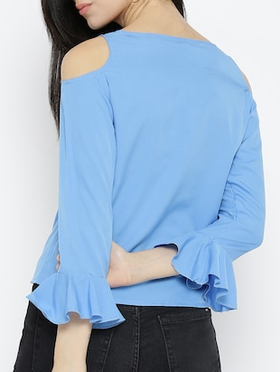 cold shoulder bell sleeved top - 15034225 - Standard Image - 3