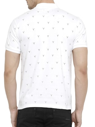 white cotton all over print tshirt - 15046638 - Standard Image - 3