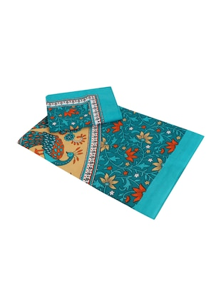 Cotton Jaipuri Traditional Double Bedsheet With 2 Pillow Covers - 15067339 - Standard Image - 3