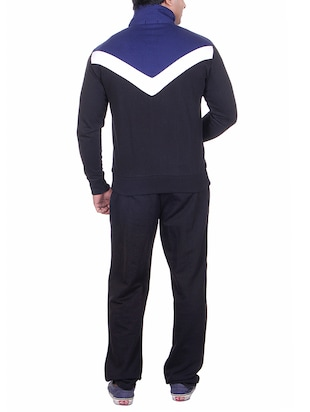navy blue polyester track suit - 15085988 - Standard Image - 3