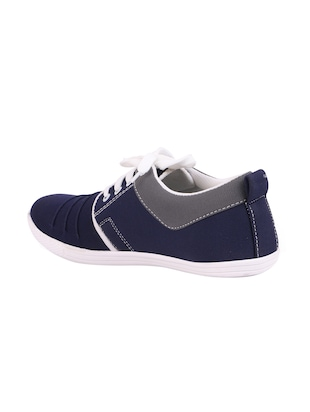 blue Canvas lace up sneaker - 15093977 - Standard Image - 3