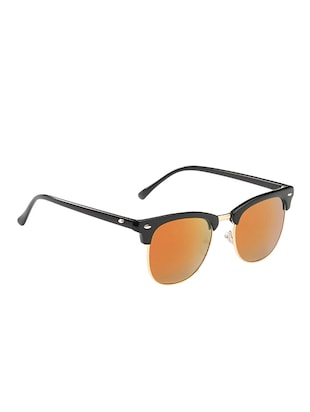 Semi Rimless Polorized Classic Club master Vintage Retro Design Brand with Sunglass Case - 15110838 - Standard Image - 3