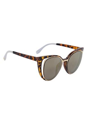 Cat-Eye Sun-glasses for Women Men Latest Stylish Mirror - 15110866 - Standard Image - 3