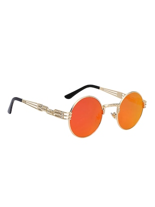 Round Vintage SteamPunk Sun-Glasses for Women Men Latest Stylish - 15110885 - Standard Image - 3