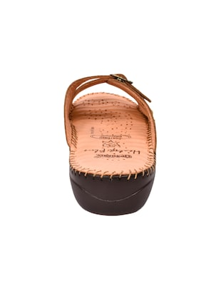 tan faux leather slippers - 15112582 - Standard Image - 3