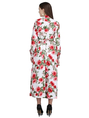 pleated floral belted maxi dress - 15113270 - Standard Image - 3