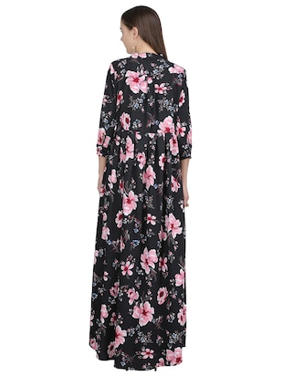 button down pleated floral dress - 15113273 - Standard Image - 3