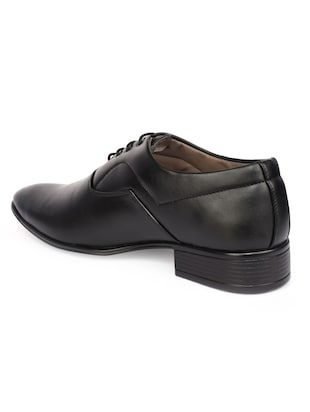 black Leatherette lace-up oxford - 15113785 - Standard Image - 3