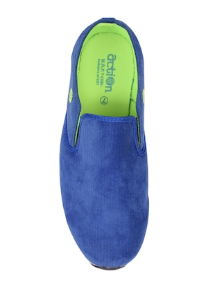 blue Canvas slip on sport shoe - 15113790 - Standard Image - 3