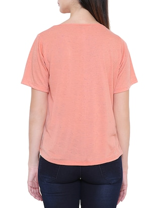 solid orange short sleeved tee - 15113825 - Standard Image - 3