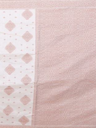 cream woven saree with blouse - 15114885 - Standard Image - 3