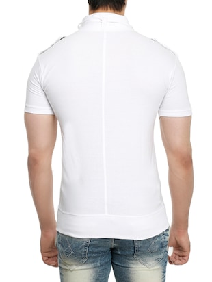 white cotton t-shirt - 15115302 - Standard Image - 3