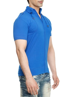 blue cotton  t-shirt - 15115304 - Standard Image - 3