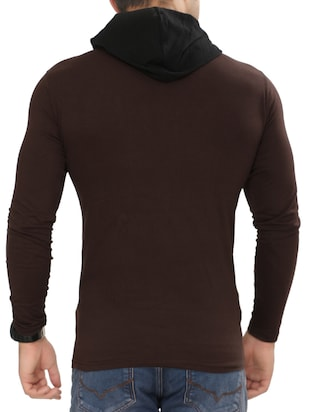 brown cotton pocket t-shirt - 15115312 - Standard Image - 3