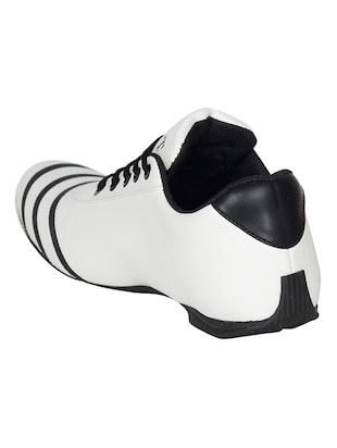 white leatherette sport shoe - 15115666 - Standard Image - 3