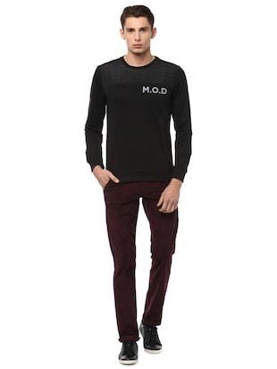 maroon cotton chinos - 15116051 - Standard Image - 3