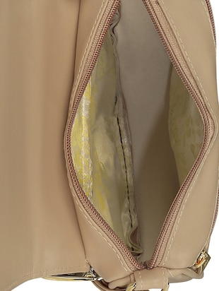 cream leatherette  regular sling bag - 15116992 - Standard Image - 3