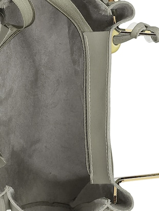 grey leatherette tote - 15117130 - Standard Image - 3