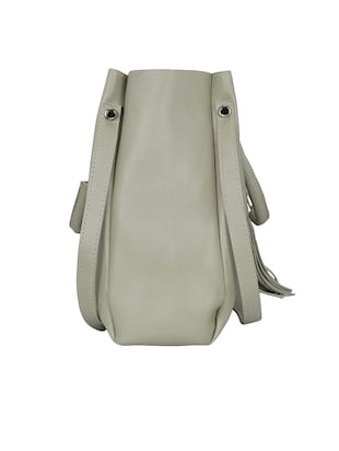 grey leatherette tote - 15117130 - Standard Image - 6