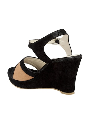 black ankle strap wedge - 15117315 - Standard Image - 3