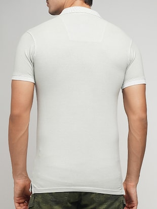 white cotton polo t-shirt - 15118521 - Standard Image - 3