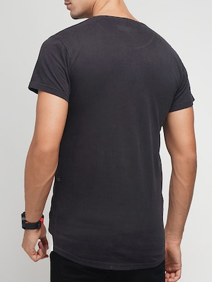 black cotton ripped tshirt - 15118544 - Standard Image - 3