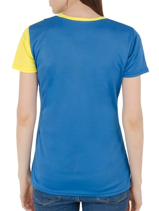 yellow color block tee - 15118557 - Standard Image - 3