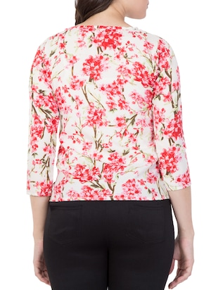 red floral printed top - 15119020 - Standard Image - 3