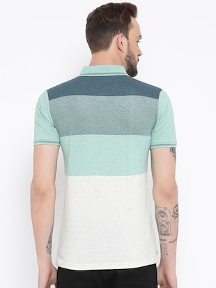 green cotton color block t-shirt - 15119058 - Standard Image - 3