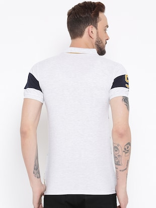 grey cotton polo  t-shirt - 15119101 - Standard Image - 3