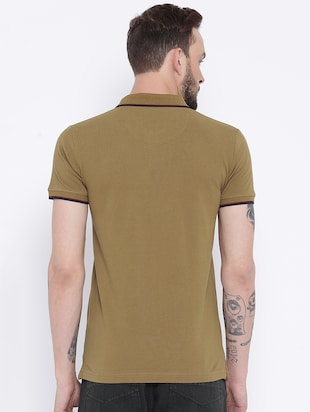 brown cotton polo t-shirt - 15119126 - Standard Image - 3