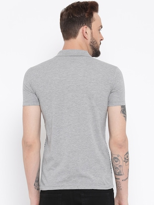 grey cotton front print t-shirt - 15119137 - Standard Image - 3