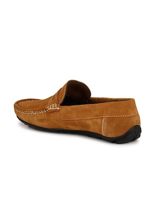 tan Suede slip on loafer - 15121181 - Standard Image - 3