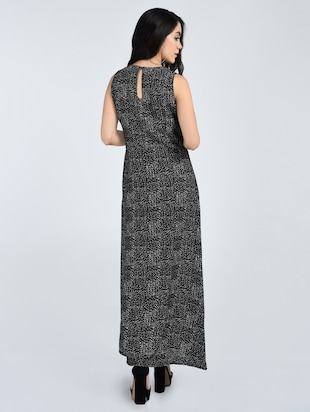 Pleated neck maxi dress - 15121396 - Standard Image - 3