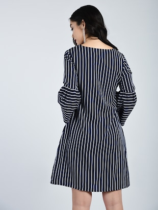 Bell sleeved striped shift dress - 15121410 - Standard Image - 3