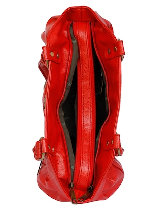 red leatherette regular handbag - 15123956 - Standard Image - 3