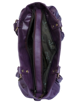 purple leatherette  regular handbag - 15123957 - Standard Image - 3