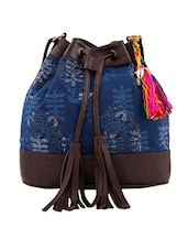 blue cotton ethnic sling bag -  online shopping for sling bags