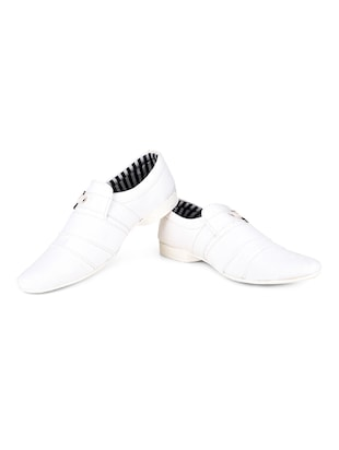 white Canvas casual slipon - 15139102 - Standard Image - 3