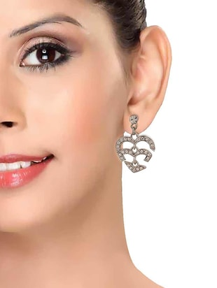 Silver Tone Drop Earrings - 15166812 - Standard Image - 3