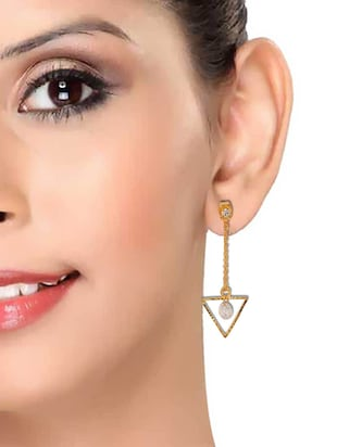 Gold Tone Drop Earrings - 15166838 - Standard Image - 3