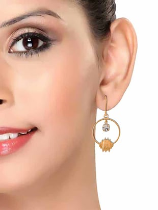 Gold Tone Drop Earrings - 15166845 - Standard Image - 3